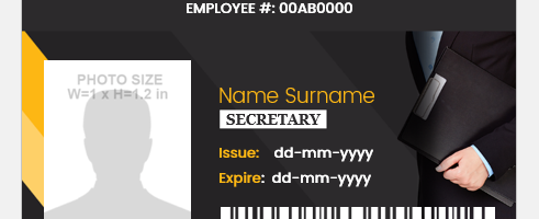 Sample Secretary ID Format