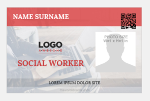 Sample social worker id badge