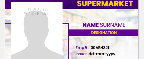 Supermarket Employee ID Badge