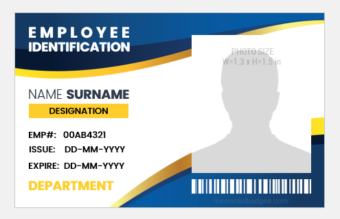 Employee portrait format id cards