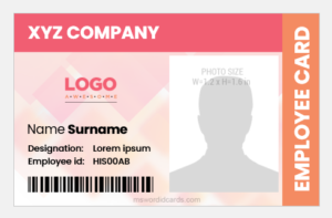 Employee ID card template
