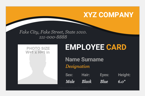 15 Best Portrait and Landscape ID Badges | Microsoft Word ID