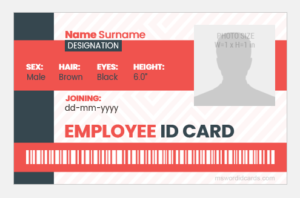 ID Badge for Office Employee