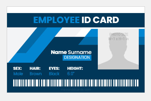 Office employee id card