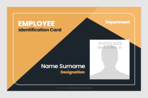 ID Badge portrait layout