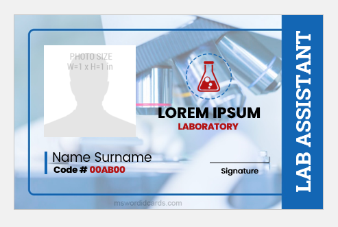 Best Lab Assistant Id Badges Microsoft Word Id Card Templates