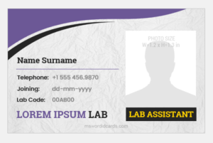 Lab Assistant ID Card