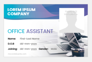 Office Assistant ID Badge
