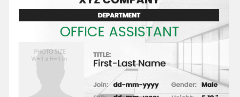 Office Assistant ID Card