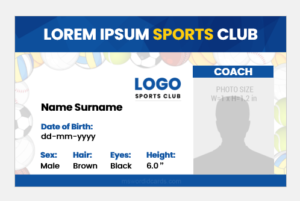 Sports coach ID badge