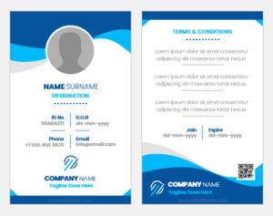 Double-Sided ID Card Template