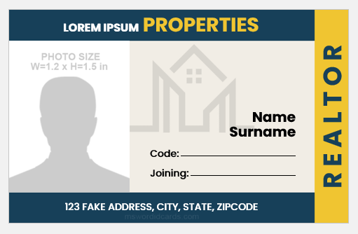 Realtor ID Badge Template