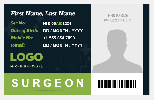 Surgeon ID Badge Template