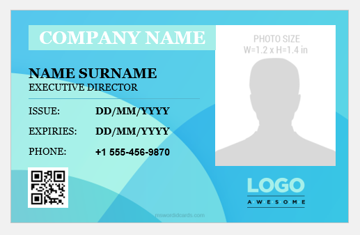 Executive Director ID Badge Template