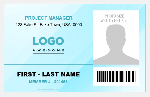 Project Manager ID Card Template