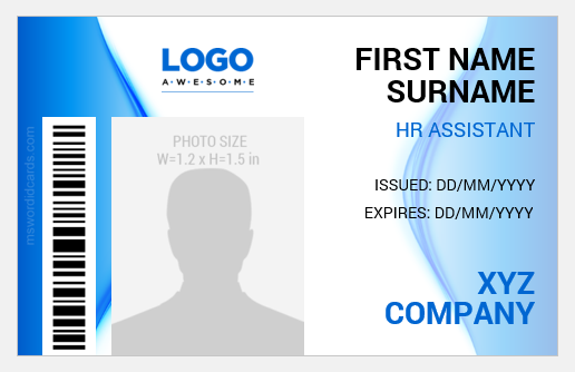 HR ID Badge Template