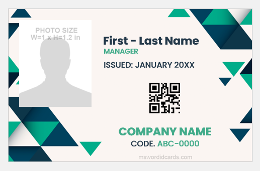 Manager ID card