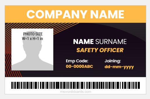 Safety officer ID card