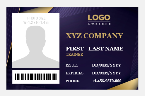 Trainer ID Badge Template