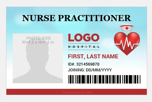 Nurse practitioner id badge