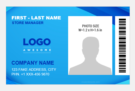 Store manager id badge